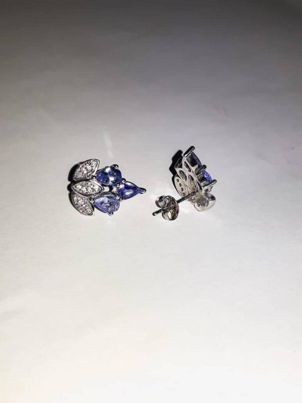 3 Piece Tanzanite Stud Earrings